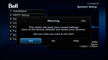 How To Reset My Receiver On Bell Tv 6400 Hd Receiver