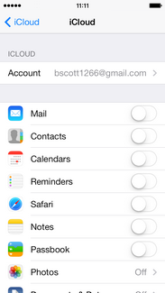 Note: You will need to have already set up an iCloud account on the phone in order to continue.