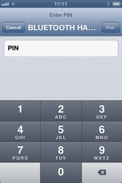 If requested, enter the PIN number for the Bluetooth device.