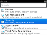 Scroll to and select Security.