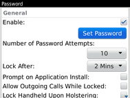 Scroll to and select Set Password.