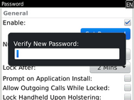 Enter the password again to confirm.