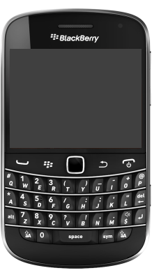 Your Bold 9900 4G will display the analogue clock face.