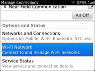 Scroll to and select Wi-Fi Network.