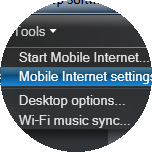 Click Mobile Internet settings.