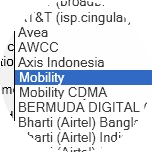 Select Mobility or Mobility CDMA from the list of available profiles.