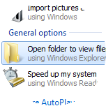 On the computer, select Open folder.