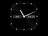 Your Curve 9360 will display the analogue clock face.