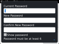 Enter your current password.