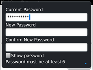 Scroll to New Password.