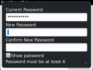 Enter the required password.