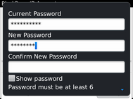 Scroll to Confirm New Password.