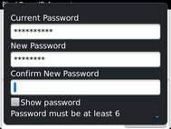 Re-enter the new password.