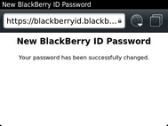 Your BlackBerry ID password has now been reset.