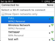 Scroll to and select the Wi-Fi network you want to use.