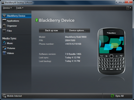 Your BlackBerry smartphone has been successfully restored.