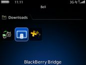On your BlackBerry smartphone, open the BlackBerry Bridge application.