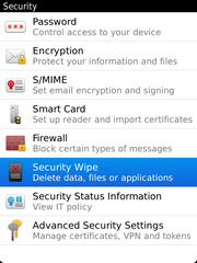Touch Security Wipe.