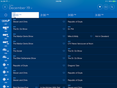 To watch a show on your TV, select the show from the Guide, Home or On Demand sections of the app.