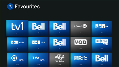 Scroll down and select the channels you want to set as favourites.