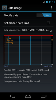 Touch Set mobile data limit.