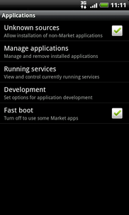 Touch Manage applications.