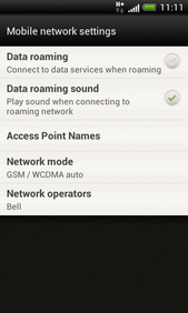 Touch Data roaming to change the setting.