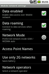 Touch Data roaming to turn it off.