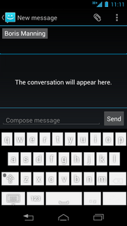 Touch Compose message.