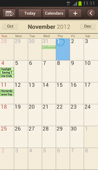 The event has been deleted from the calendar.
