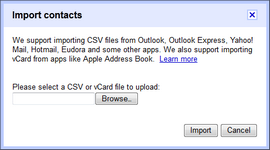 Select the CSV file with your contacts.