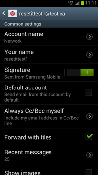 Touch Default account.
