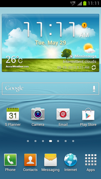 On the Samsung Galaxy S III, touch Apps.