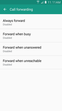 Select a forwarding option (e.g., Forward when unanswered).