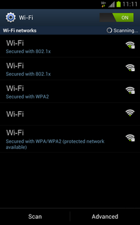 Select the Wi-Fi network you want to use.