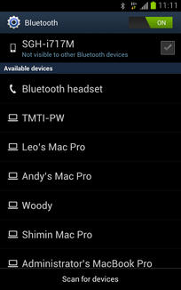 Make sure the headset is in pairing mode and in range.Touch the name of the Bluetooth headset.