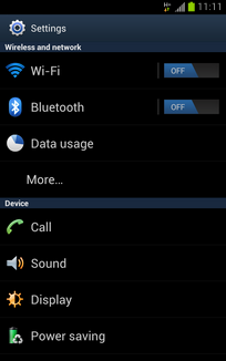 If Bluetooth is off, touch the Bluetooth slider to turn it on.