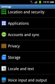 Touch Accounts and sync.