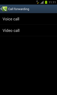 Touch the required option (e.g. Voice call).
