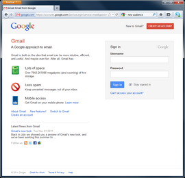 Launch a web browser and navigate to Gmail (gmail.com).