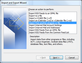 Click Export to a file.
