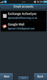 The Google account has been set up.