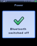 Bluetooth is now disabled.