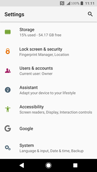 How to set up the screen lock on my Sony Xperia XZ1 and