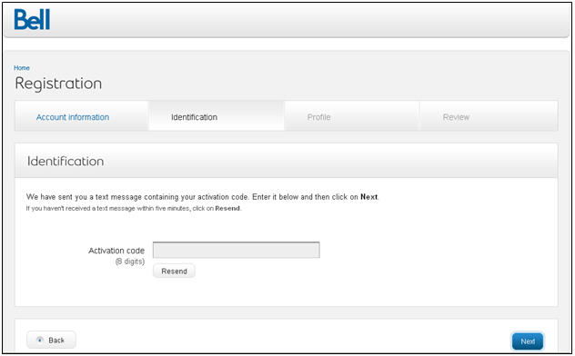 Enter the case-sensitive 8-digit activation code in the activation code