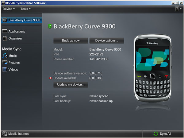 Blackberry curve 9360 software download.