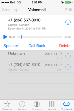 set up voicemail iphone iphone visual voicemail 16107