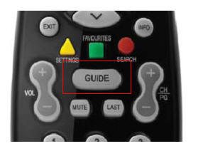 Fibe remote - Guide button