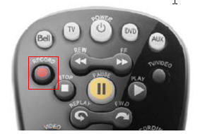 Fibe remote - Record button